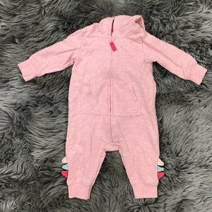 Carter's   Girl's One Piece   Pink   Dino   3M
